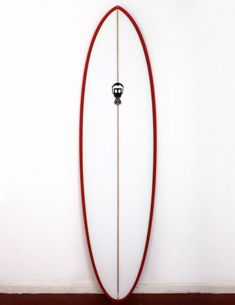 Mark Phipps One Bad Egg surfboard 6ft 8 FCS II - Red Rail