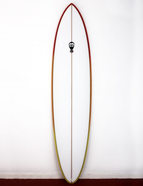 Mark Phipps One Bad Egg surfboard 7ft 10 Futures - Red Orange Rail