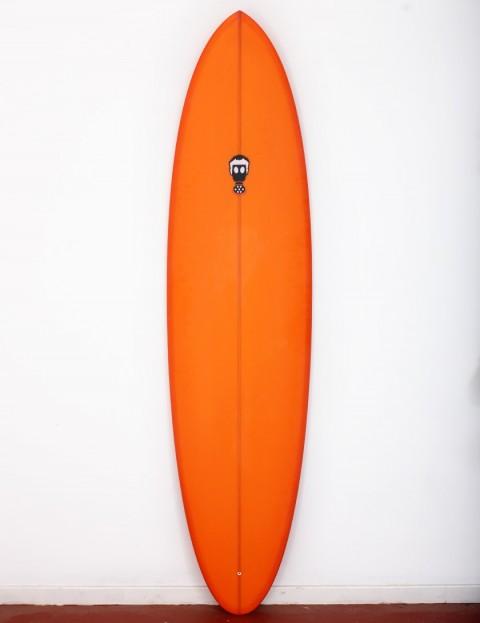 Mark Phipps One Bad Egg surfboard 7ft 2 Futures - Orange Resin Tint