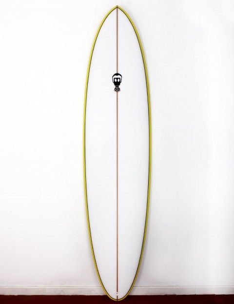 Mark Phipps One Bad Egg surfboard 6ft 10 Futures - Yellow Rail