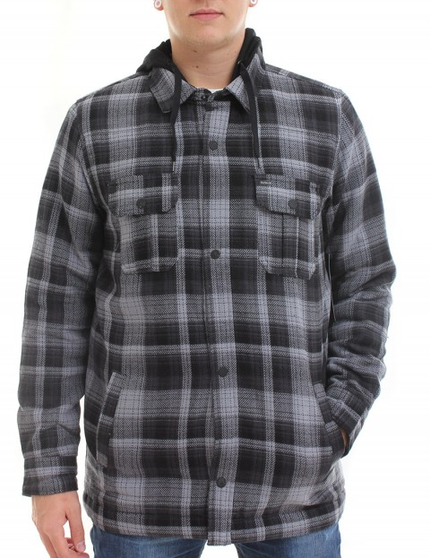 Hurley Emmit flannel shirt - Anthracite