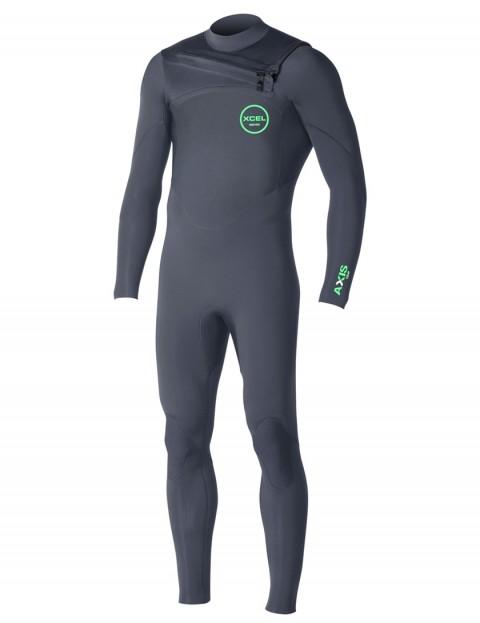 Xcel Axis Comp Chest Zip wetsuit 4/3mm - Graphite