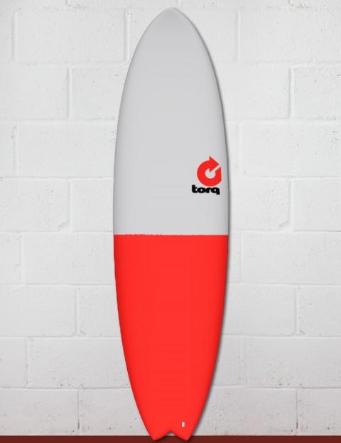 Torq Mod Fish surfboard 6ft 10 - Red/Grey