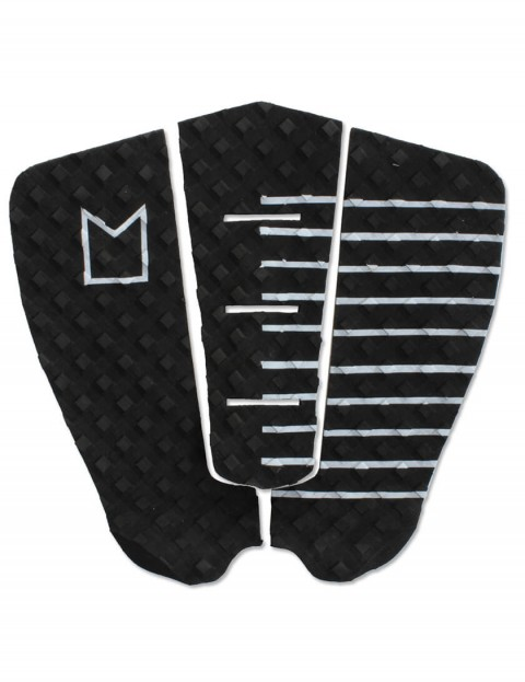 MODOM Craig Anderson surfboard tail pad - Black/White Stripes