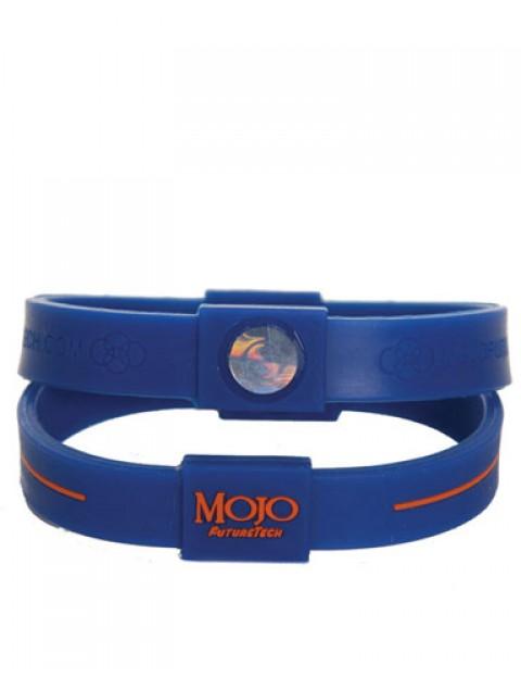 Mojo Max 8 inch Double Holographic wristband - Blue/Orange