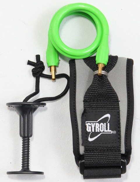 Gyroll Coiled Bicep Bodyboard leash - Lime Green