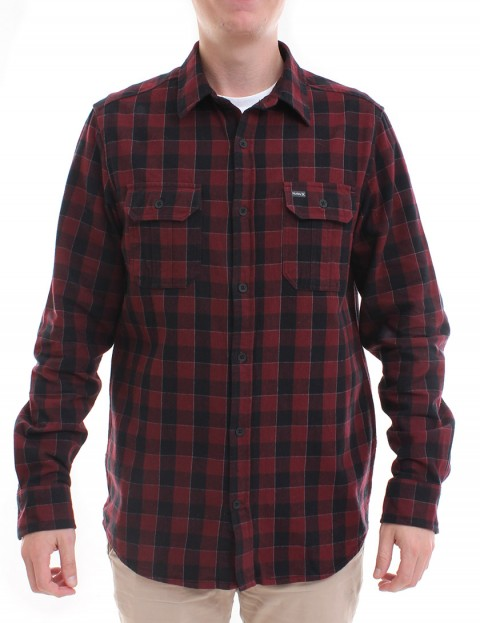 Hurley Westley flannel shirt - Mahogany