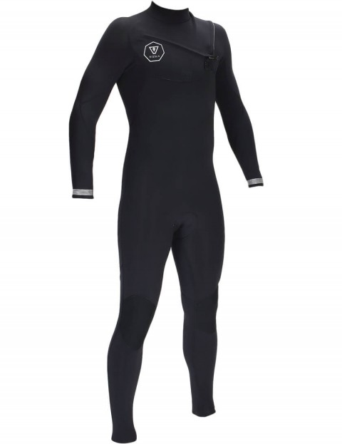 Vissla 7 Seas Chest Zip 3/2mm Wetsuit 2016 - Black/Silver