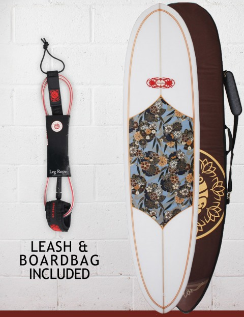 Nineplus Magic Carpet Package Surfboard 6ft 8 - Floral