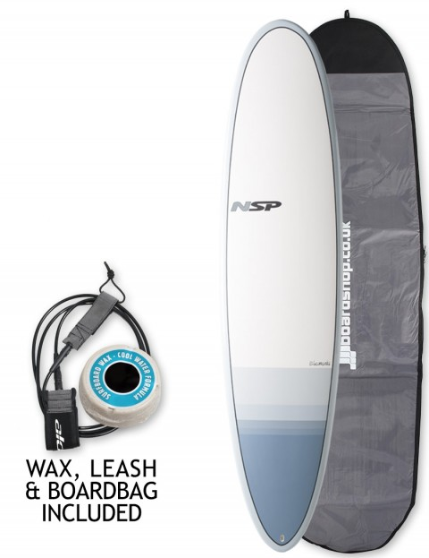 NSP Elements Funboard surfboard 7ft 10 package - Tail Dip