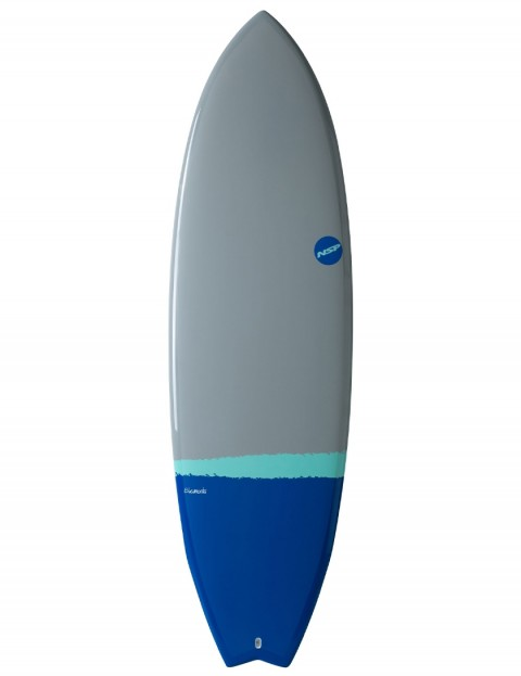 NSP Elements Fish surfboard 6ft 8 - Grey