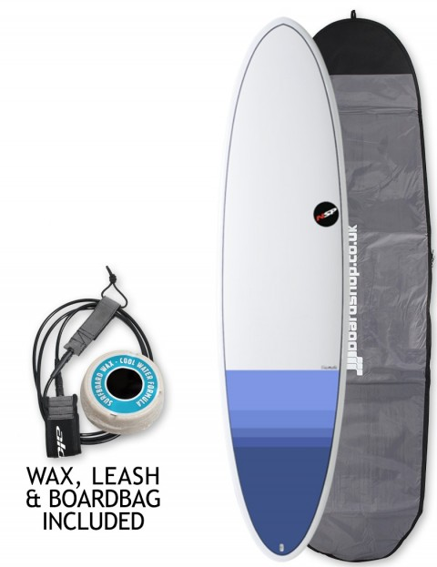 NSP Elements Funboard surfboard package 7ft 6 - Tail Dip Blue