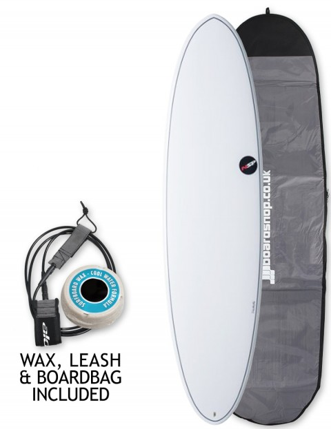 NSP Elements Funboard surfboard package 7ft 6 - White