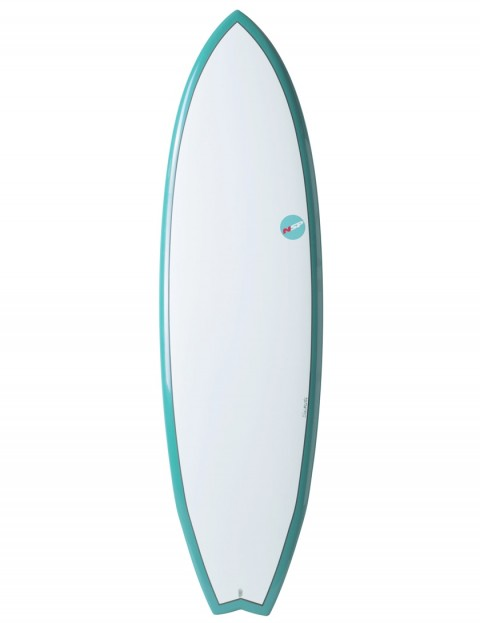 NSP Elements Fish surfboard 6ft 4 - Aqua