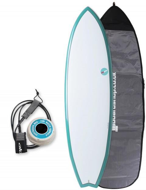 NSP Elements Fish surfboard package 6ft 4 - Aqua