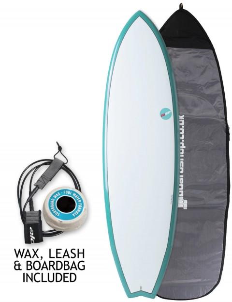 NSP Elements Fish surfboard package 6ft 8 - Aqua