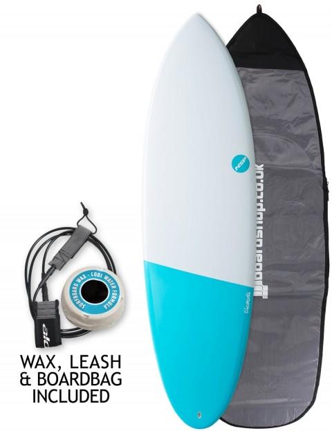 NSP Elements Hybrid surfboard package 6ft 4 - Electric Blue