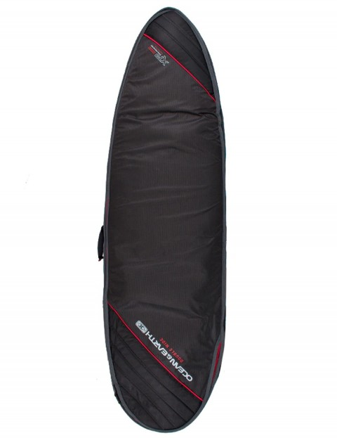 Ocean & Earth Double Wide Shortboard/Fish surfboard bag 10mm 6ft 8 - Black/Red