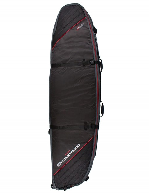 Ocean & Earth Quad Wheel Shortboard surfboard bag 10mm 6ft 6 - Black/Red