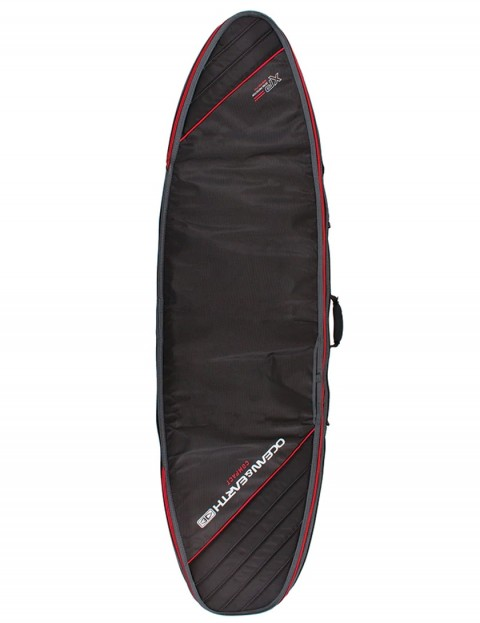 Ocean & Earth Triple Compact Shortboard surfboard bag 10mm 6ft 8 - Black/Red