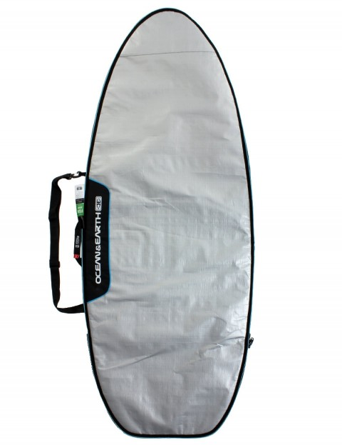 Ocean & Earth Barry Super Wide Fish Cover 5mm Surfboard bag 5ft 8 - Silver