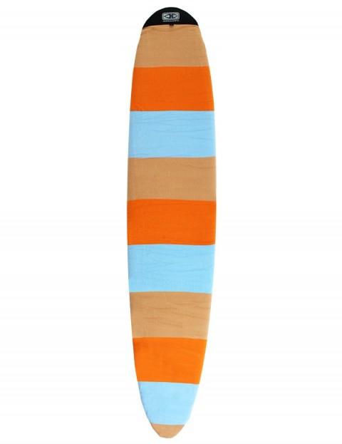Ocean & Earth Longboard Stretch Cover Surfboard bag 9ft 6 - Orange Solid Stripe