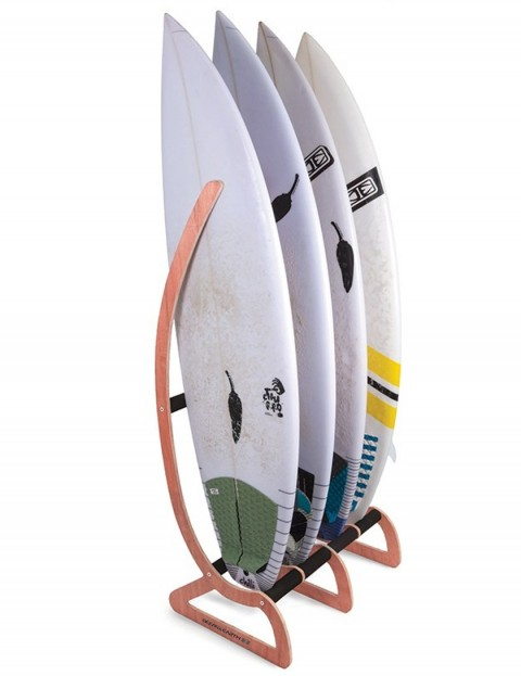Ocean & Earth Timber Free Standing Rax surfboard display rack - Natural Wood