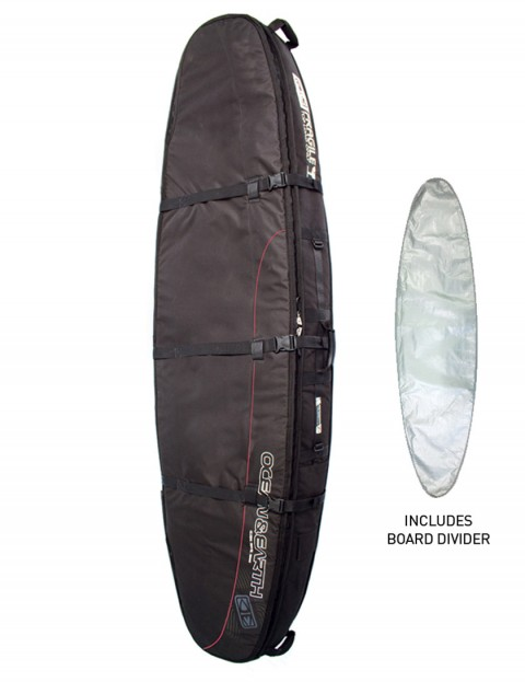 Ocean & Earth Double Coffin Shortboard surfboard bag 10mm 8ft 0 - Black