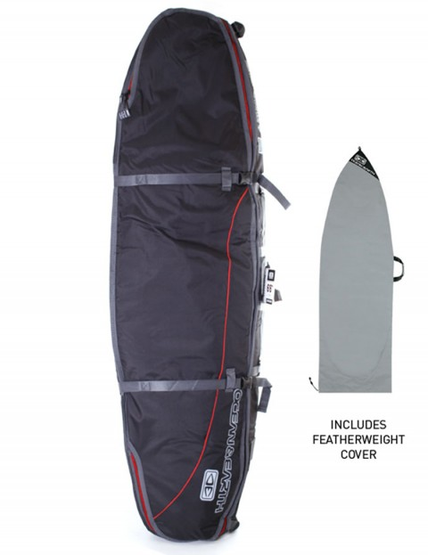 Ocean & Earth Triple Coffin Shortboard surfboard bag 10mm 6ft 6 - Black