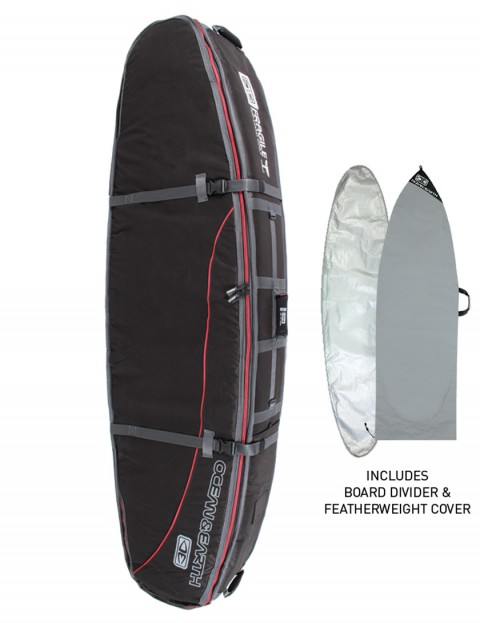 Ocean & Earth Quad Coffin Shortboard surfboard bag 10mm 8ft 0 - Black