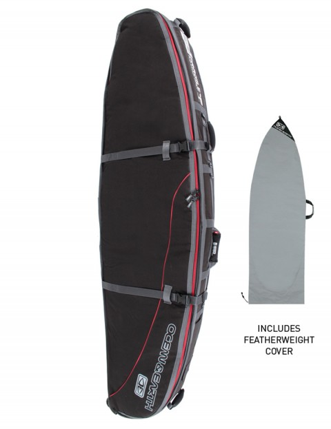 Ocean & Earth GTS Triple Wheely Shortboard surfboard bag 10mm 7ft 0 - Black