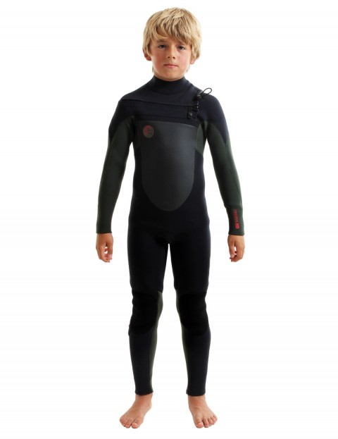 O'Neill Boys O'Riginal Chest Zip 5/4mm wetsuit 2018 - Black/Dark Olive/Red
