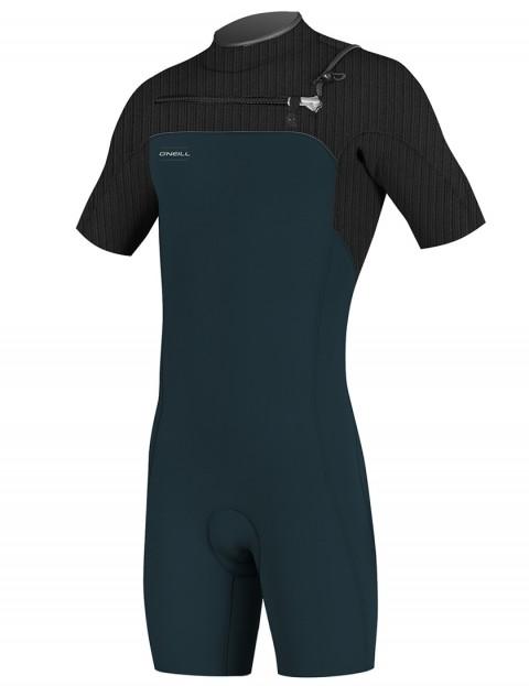 O'Neill Hyperfreak Chest Zip Shorty 2mm wetsuit 2018 - Slate/Black