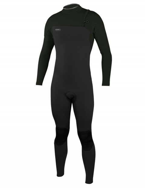 O'Neill HyperFreak Comp Zipless 5/4mm wetsuit 2018 - Black/Dark Olive