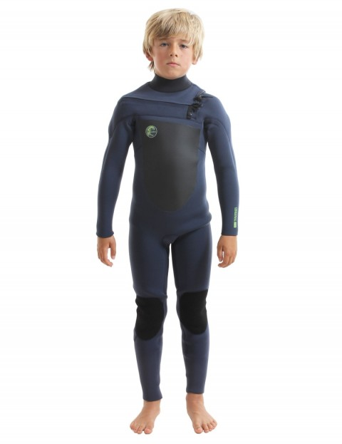 O'Neill Boys O'Riginal Chest Zip 5/4mm wetsuit 2018 - Slate/Slate/Dayglo