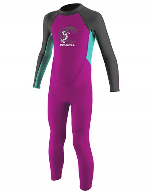 O'Neill Toddler Reactor 2mm Wetsuit 2018 - Berry/light Aqua/Graph