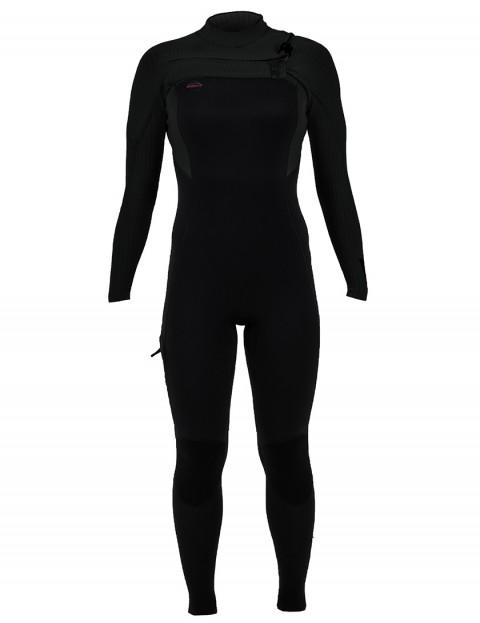 ONeill Ladies Hyperfreak Chest Zip 4/3mm Wetsuit 2019 - Black/Black