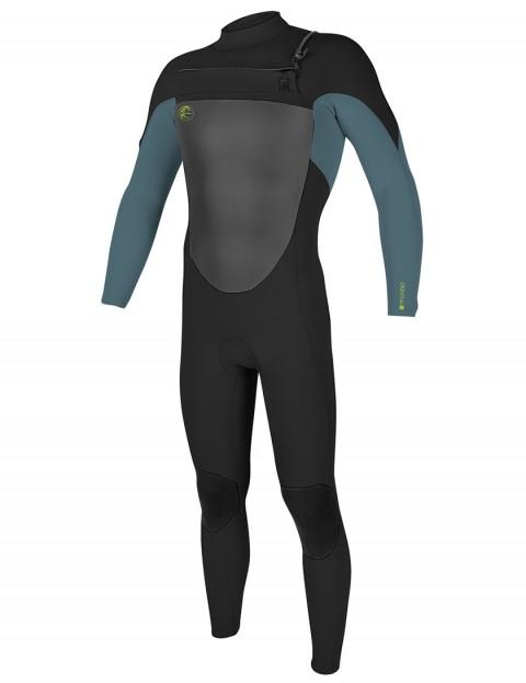 O'Neill Boys O'Riginal Chest Zip 3/2mm wetsuit 2018 - Black/Dusty Blue/Dayglo