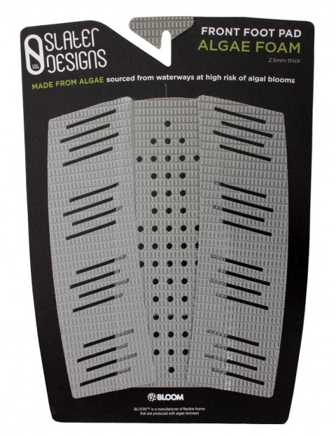Slater Designs 3-Piece Front Foot Surfboard Traction Pad - Grey