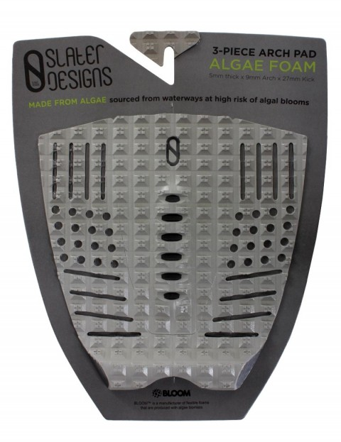 Slater Designs 3-Piece Arch Surfboard Tail Pad - Grey