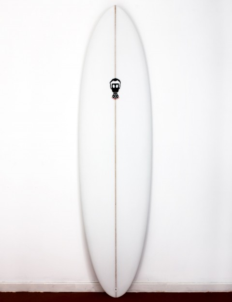 Mark Phipps One Bad Egg surfboard 6ft 10 FCS II - White