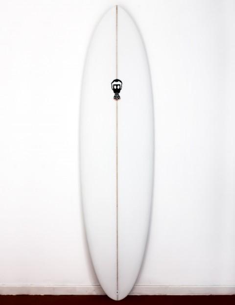 Mark Phipps One Bad Egg surfboard 7ft 6 Futures - White