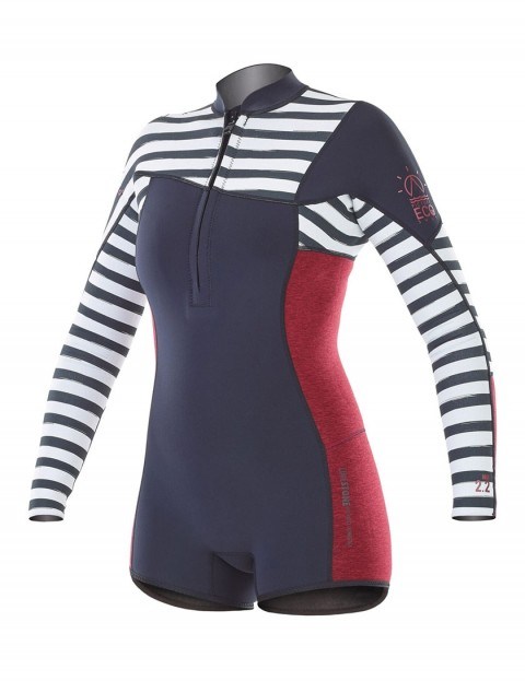 Picture Ladies Bonnie Chest Zip Long Sleeve Shorty 2mm wetsuit 2018 - Black/Sailor
