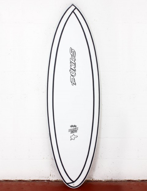 Pukas 69er Step Down surfboard INNCA 6ft 0 FCS II - White