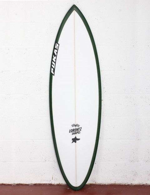 Pukas 69er Pro surfboard 5ft 7 Futures - Green