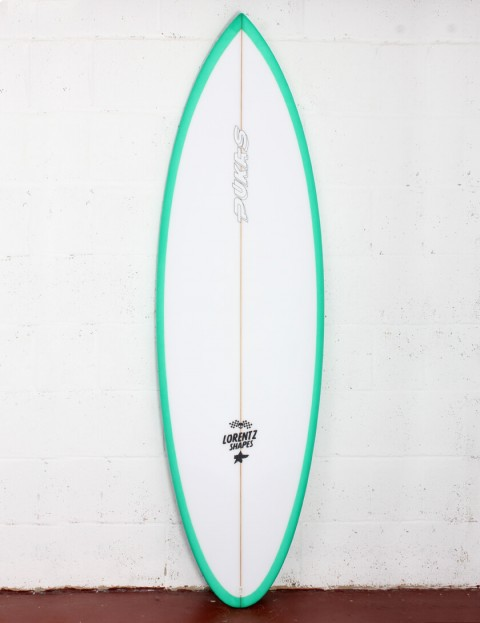 Pukas 69er Pro surfboard 6ft 4 Futures - Green