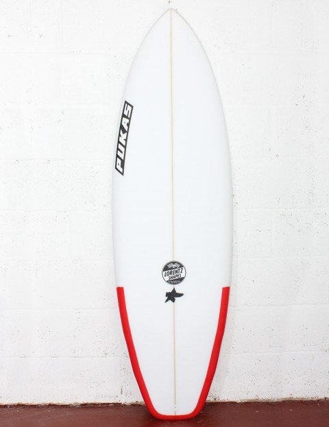 Pukas El Loco Surfboard 5ft 8 Futures - Red