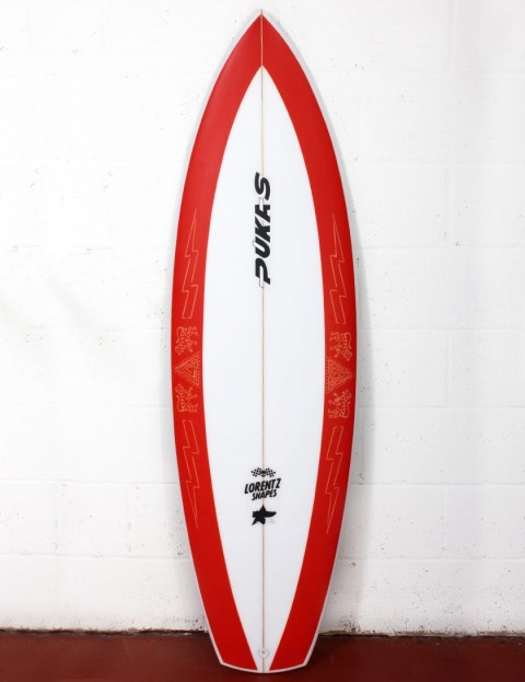 Pukas La Loca surfboard 5ft 10 FCS II - Red