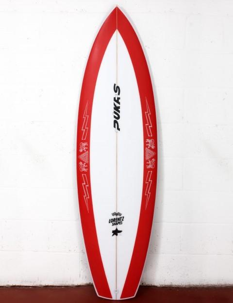 Pukas La Loca surfboard 6ft 0 FCS II - Red