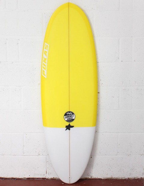 Pukas Resin Cake surfboard 5ft 10 Futures - Yellow